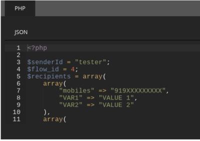 Bulk SMS API Sample Code